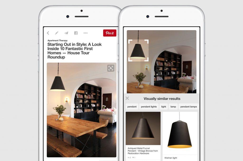 Pinterest's Lens feature